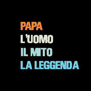 Italienischer Papa der Mann der Mythos die Legende