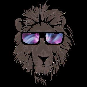 Cooler Löwe mit Brille Raubkatze Löwin Geschenk