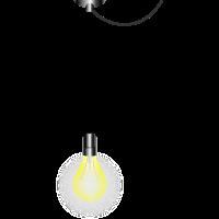 Glühbirne am Kabel
