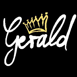 Krone Name Namensschild Gerald