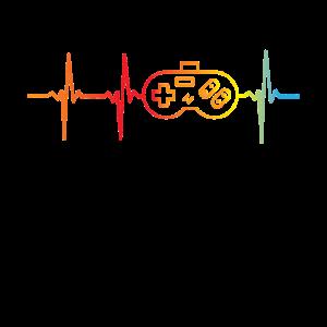 Gamer EKG Vollblut Gamer Gamer Herz