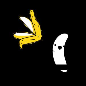 Nackte Banane