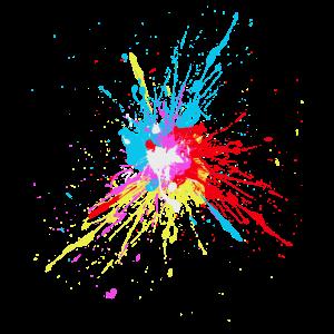 Farbspritzer Farbkleckse bunt cool fun Farbe