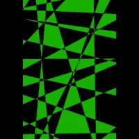 Grüne Splitter Kunst Modern Mathematik Geometrie