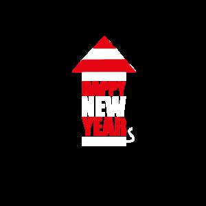 Silvester 2019 Neujahr Raketen T-Shirt