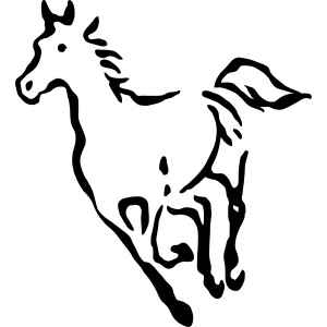 Pferde Umriss