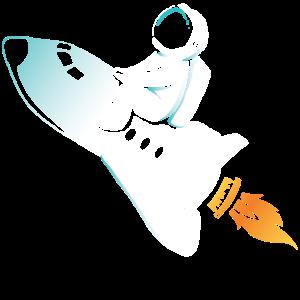 Rakete Astronaut zum Mond