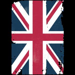Großbritannien Grunge Flagge