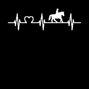 Herzschlag Puls Reiter Pferdeliebhaber EKG Shirt