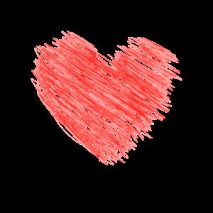 Herz auf Streifen Heart