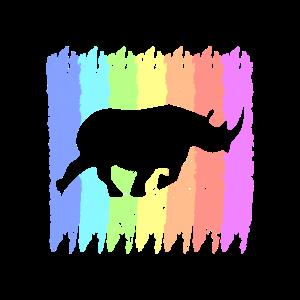 South Africa Nashorn Natur Retro Style Geschenk