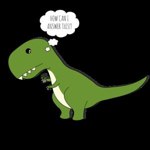 TRex Dinosaurier Fleischfresser Telefon Geschenk