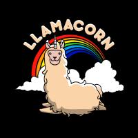 Llamacorn Lama Einhorn Regenbogen Lustig Geschenk