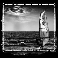 windsurfer sunset