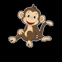 Kleiner Affe Sitzt