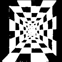 Schachbrett Korridor, weiß