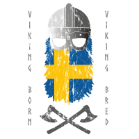 Wikinger Helm Schwedische Flagge Viking Bred