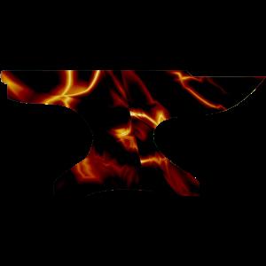 Amboss Schmied Feuer Glut