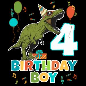 4-jährige Kindergeburtstags-Jungen-Party T Rex Dinosaurier