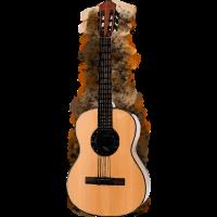 Gitarre Coloriert