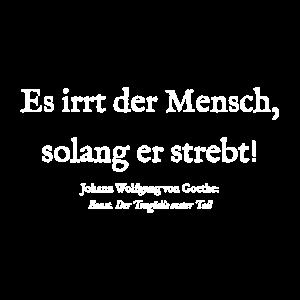 Goethe Zitat Spruch Faust I - Es irrt der Mensch