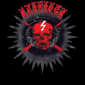 Hard Rock Totenkopf Banner Rocker Geschenk