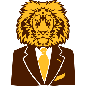 König der Löwen König Business-Anzug und Krawatte