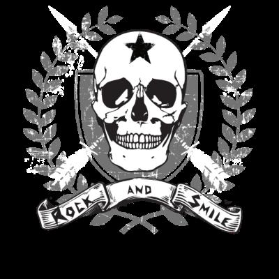 Hard Rock Rocker Motorradfahrer MC Club Geschenk - Das Rock and Smile shirt ist das perfekte Geschenk für alle Rocker und Motorradfahrer. Genau richtig zum Geburtstag, B-Day, Weihnachten, Oma, Opa, Mama, Papa, Schwester, Bruder. - harte Jungs,Used,Totenkopf,Skull,Rocknroll,Rockies,Rocker,Rockabilly,Rockabella,Rock 'n' Roll,Rider,Pfeile,Motorradclub,Motorrad,Motorcycle,MC,Lederjacke,Hardstyle,Hardrock,Hard style,Hard Rock,Geschenk,Geburtstag,Emblem,Banner