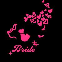 Bride - Braut - Team - JGA - Cocktail - Herz - 2C