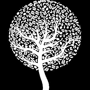 Baum mit Noten weiss
