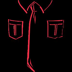 Krawatte mit Kragen 2-farbig