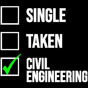 Einziges genommenes Bauingenieur-T-Shirt