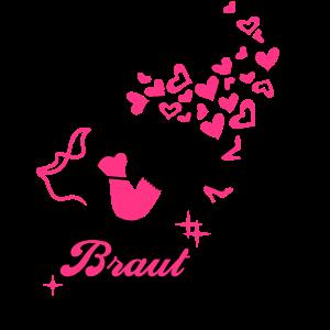 Braut - Bride - Team - JGA - Cocktail - Herz - 2C