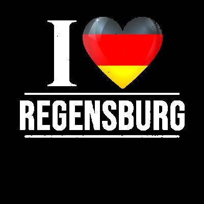 Ich liebe Regensburg - Ich liebe Regensburg - Regensburg,Flagge,Deutschland,Deutsch