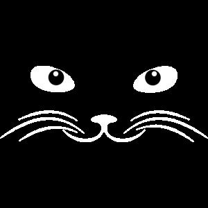 Katzen Geschenk gesicht freundlich Grafik für