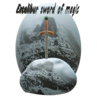Excalibur im Felsen