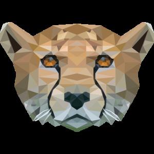 Gepard Polygon Katzenliebe