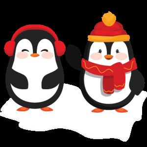 Winter Pinguine Geschenk Geschenkidee