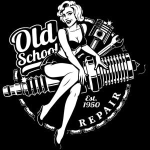 Oldschool Biker Vintage Garage