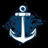 Marine Anker fallen ins Blaue Meer - Ges