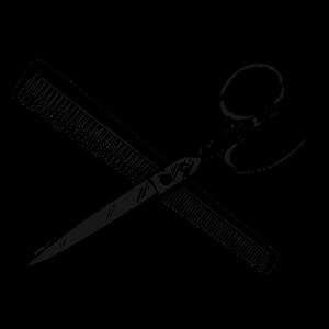 Kamm und Schere / Werkzeug des Friseurs