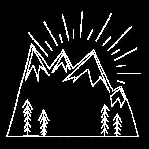Wanderlust Sonne und Berge I Souvenir und Geschenk