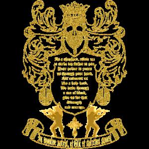 Montana Wappen in Gold English