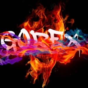 Gadget Gorex logo teschio rosso