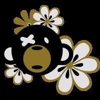 Teddy Bär mit Blumen