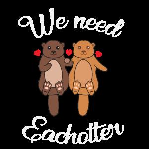 Otter Fischotter Liebe Lieben Verliebt Paar