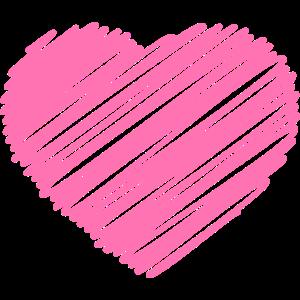 Herz gezeichnet Pink