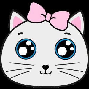 Süße Baby Katze Gesicht mit großen Augen