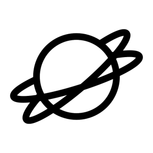 Planet with Rings Icon