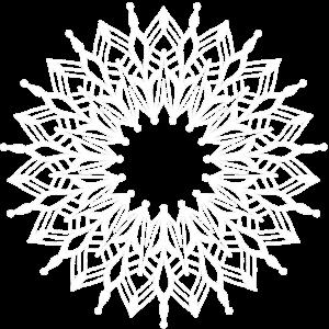 weißes Mandala